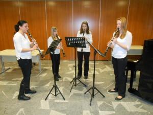 Nastop klarinetistk na literarnam večeru v sklopu Krakarjevih dnevov v KC Semič